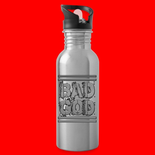 BadGod - Water bottle with straw