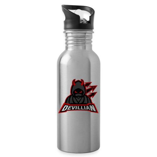 DevillianEsport Logo - Drikkeflaske med integreret sugerør