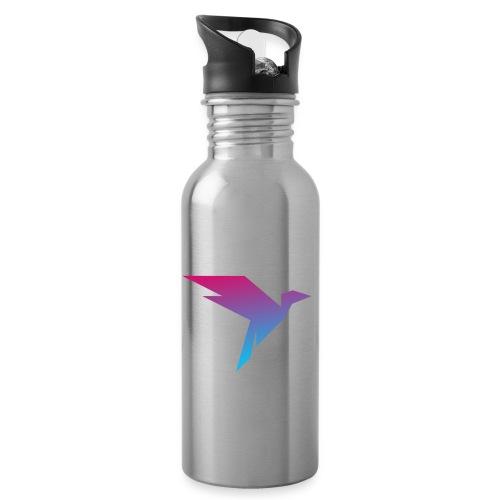Humanisten Vogel - Trinkflasche mit integriertem Trinkhalm
