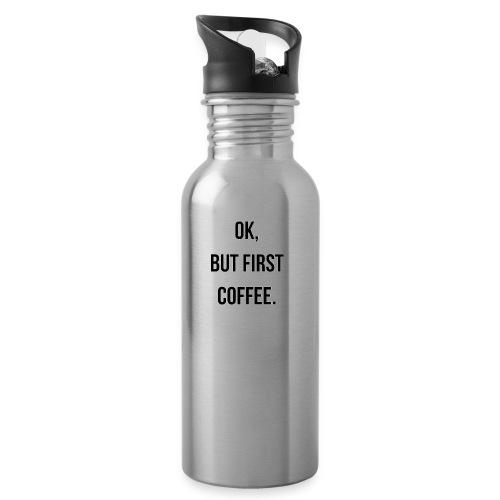 flat 800x800 075 fbut first coffee - Drinkfles met geïntegreerd rietje