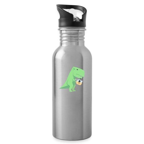 Tea-Saurus - Trinkflasche mit integriertem Trinkhalm