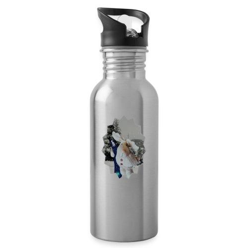 Snowboard-sportlicher E L C H - Trinkflasche mit integriertem Trinkhalm