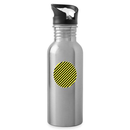 varninggulsvart - Vattenflaska med integrerat sugrör