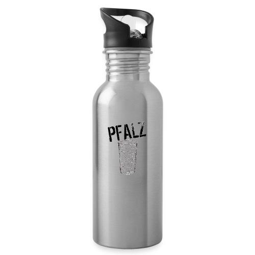 Pfalzshirt mit Dubbeglas, weiß - Trinkflasche mit integriertem Trinkhalm