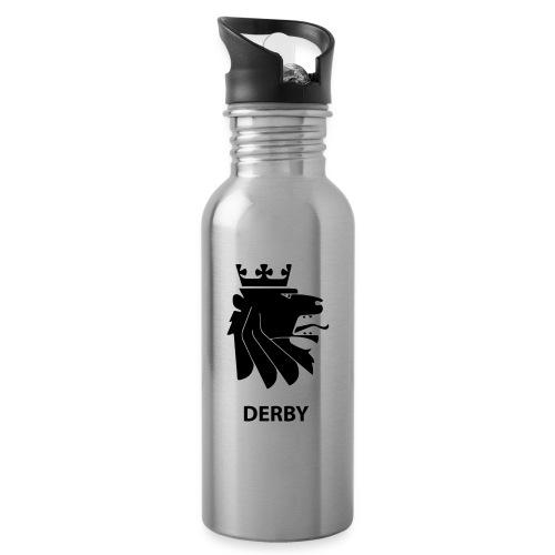 Derbylogo - Drikkeflaske med integrert sugerør
