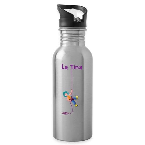 La Tina rapelant - Botella cantimplora con pajita integrada