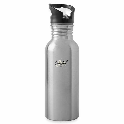 joyful - Vattenflaska med integrerat sugrör