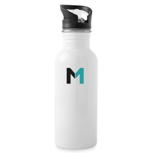 Logo M - Trinkflasche mit integriertem Trinkhalm