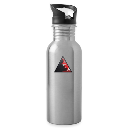 Climb high as a mountains to achieve high - Water bottle with straw