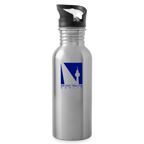 Instant Theater Berlin logo - Water bottle with straw
