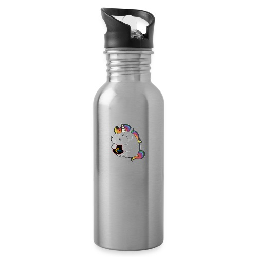 MIK Einhorn - Trinkflasche mit integriertem Trinkhalm