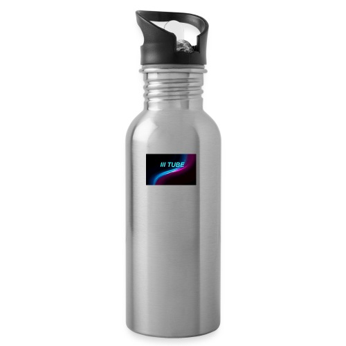 logo - Drinkfles met geïntegreerd rietje