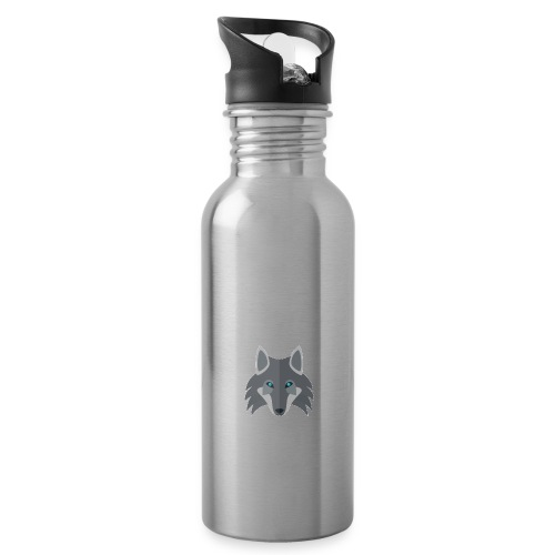 Logo wolf Channel - Water bottle with straw