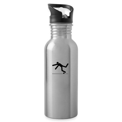 TripAndSmash Logo - Water bottle with straw