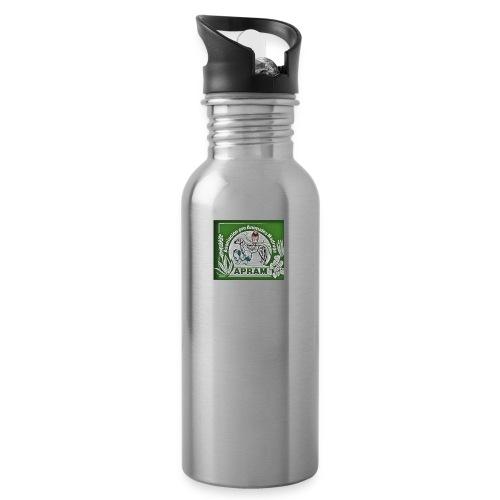 logo apram jpg - Trinkflasche mit integriertem Trinkhalm