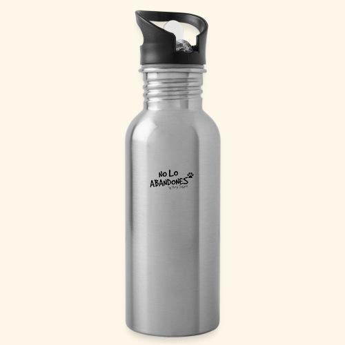 noloabandones negro - Botella cantimplora con pajita integrada