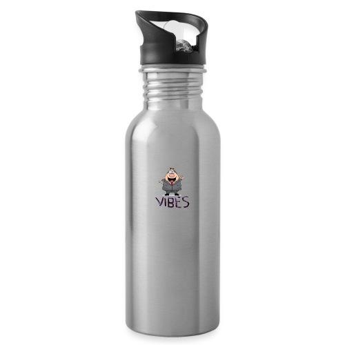 BossVibes version 3 - Drikkeflaske med integreret sugerør