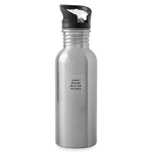 cap woes - Drinkfles met geïntegreerd rietje