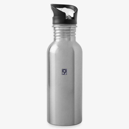 9 Clothing T SHIRT Logo - Water bottle with straw