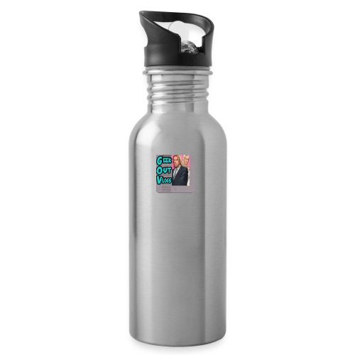 GeekOut Vlogs NES logo - Water bottle with straw