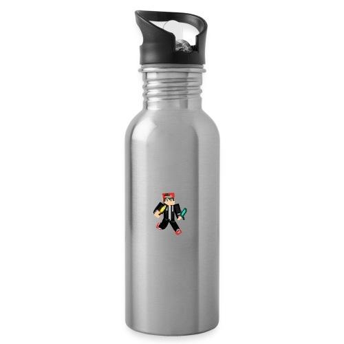 animated skin - Trinkflasche mit integriertem Trinkhalm
