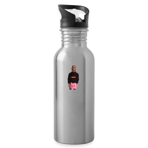 Sigrid_uPhotoTee - Drikkeflaske med integrert sugerør