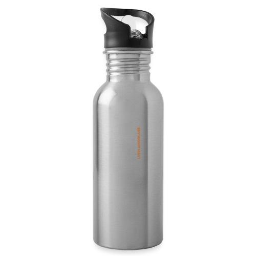 lundsaikido vit orange - Vattenflaska med integrerat sugrör
