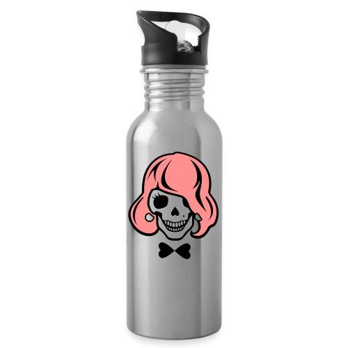 Skelett zum Haare färben - Trinkflasche mit integriertem Trinkhalm