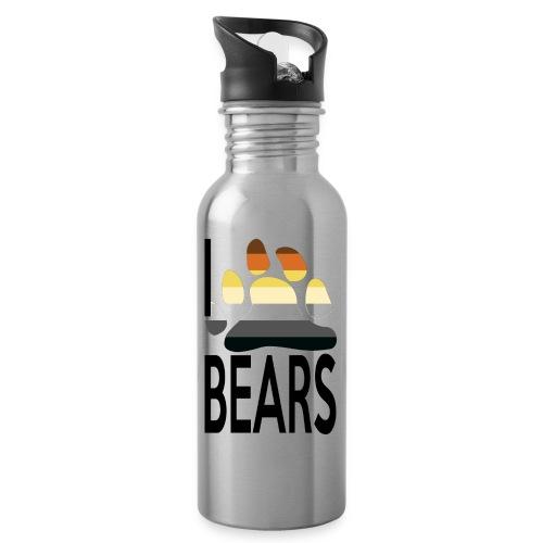I love bears - Gourde avec paille intégrée