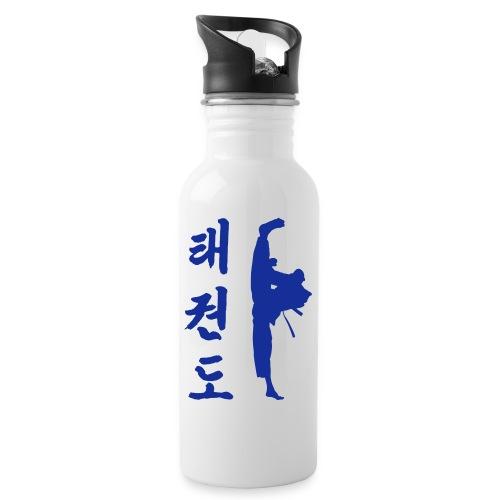 Tollyo Chagi Schriftzeichen eps - Trinkflasche mit integriertem Trinkhalm
