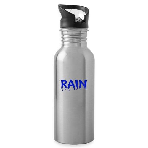 RAIN Logo - Trinkflasche mit integriertem Trinkhalm