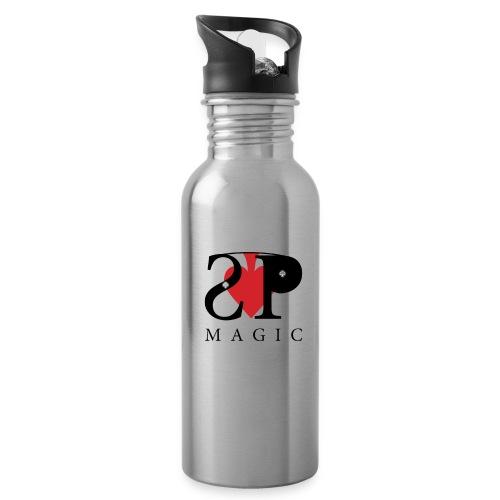 Mein Logo - Trinkflasche mit integriertem Trinkhalm