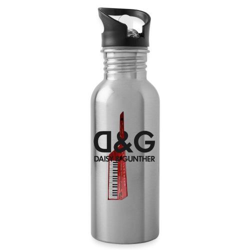 Met keytar-logo - Drinkfles met geïntegreerd rietje
