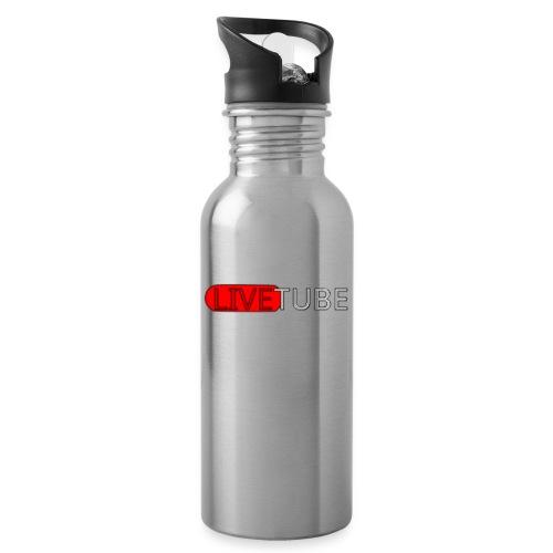 Livetube - Drikkeflaske med integreret sugerør
