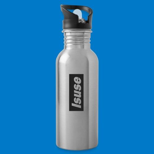 box logo black isuse - Botella cantimplora con pajita integrada