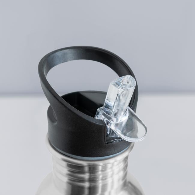 Vorschau: I bin daun moi weg - Trinkflasche mit integriertem Trinkhalm