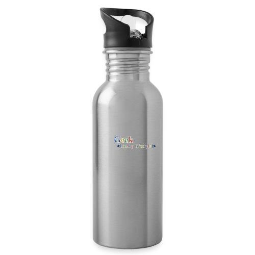 geek_life_style_google_font - Botella cantimplora con pajita integrada