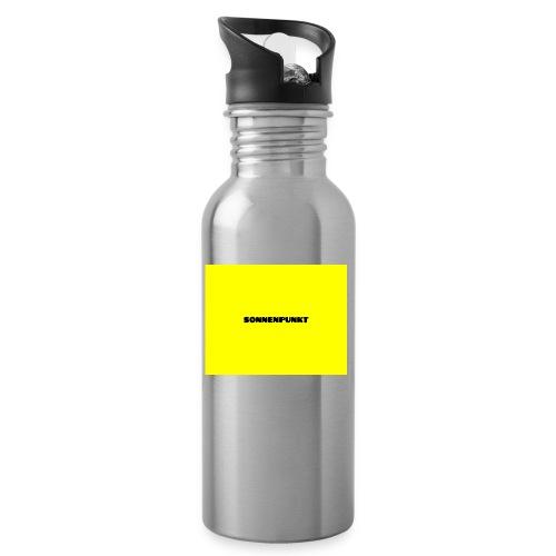 Sonnenpunkt schriftart - Trinkflasche mit integriertem Trinkhalm