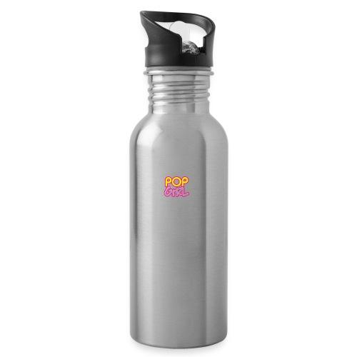 Pop Girl logo - Water bottle with straw