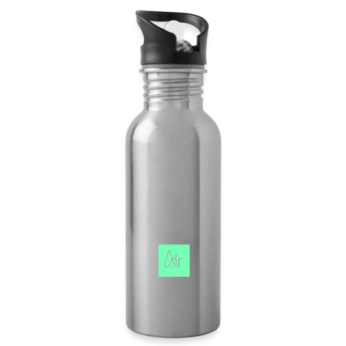 Air Control Pilates Blue jpg - Water bottle with straw