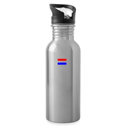 vlag nl - Drinkfles met geïntegreerd rietje