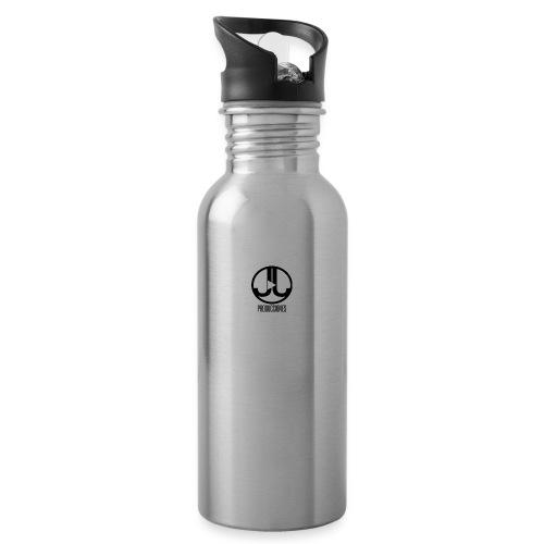 Logo JJ Producciones - Botella cantimplora con pajita integrada