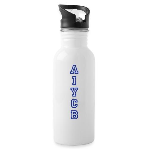 AIYCB_hochblauweissaufrot - Trinkflasche mit integriertem Trinkhalm