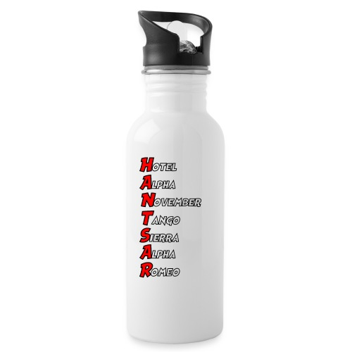 HANTSAR - Phonetic - Water bottle with straw