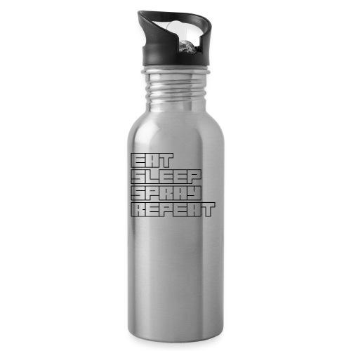 EATSLEEPSPRAYREPEAT - Water bottle with straw