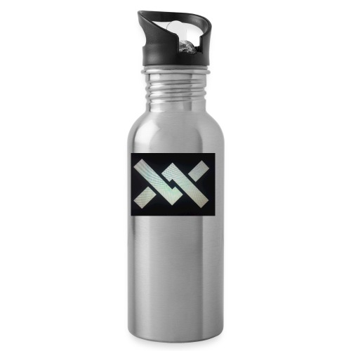 Original Movement Mens black t-shirt - Water bottle with straw