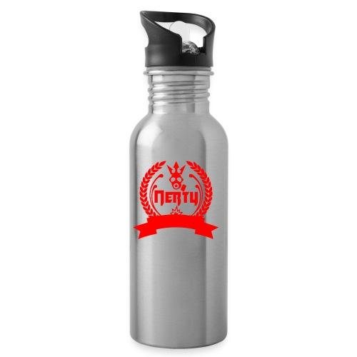 nerty logo rouge - Gourde avec paille intégrée