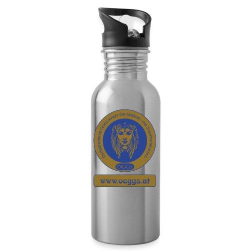 ÖGGS Logo - Trinkflasche mit integriertem Trinkhalm