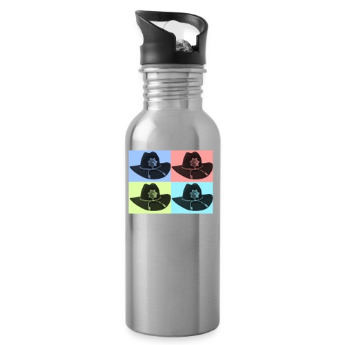 cuatro rick - Botella cantimplora con pajita integrada