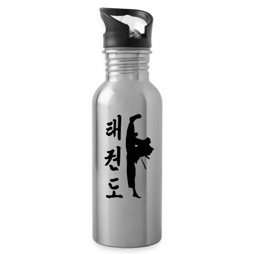 Tollyo Chagi Schriftzeichen png - Trinkflasche mit integriertem Trinkhalm